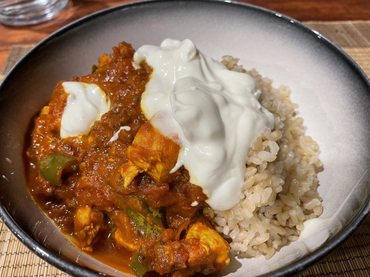 Madras Curry with rich tomato tamarind masala
